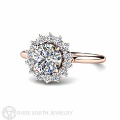 1ct Diamond Engagement Ring Conflict Free Diamond by RareEarth