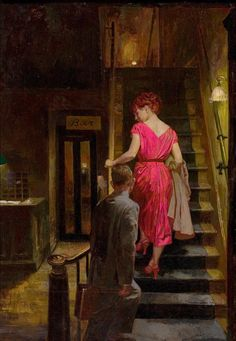 JAMES AVATI (American, 1912-2005). The Farmer's Hotel, paperback cover, 1960. Oil on board. 23 x 15 in.. Not signed.
