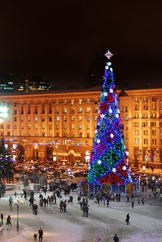 Christmas in Kyiv, Ukraine.