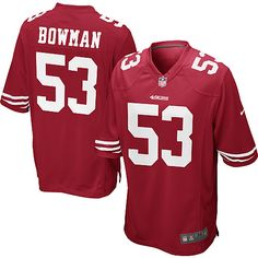 NaVorro Bowman Elite Jersey,-80%OFF Nike NaVorro Bowman Game Jersey at 49ers Shop. (Game Nike Men's NaVorro Bowman Red Jersey) San Francisco 49ers Home #53 NFL Easy Returns.