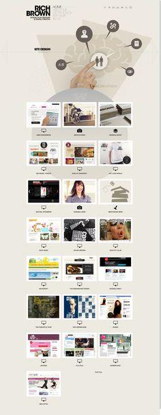 Unique Web Design, Rich Brown (http://www.richbrown.info) #WebDesign #Design (http://www.pinterest.com/aldenchong/)