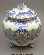 antique china biscuit barrel