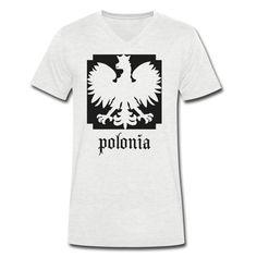 Polonia V-Shirt Men [*Schwarz Glitzer*] - Männer T-Shirt mit V-Ausschnitt #polska #shop #polskashop #polskatshirt #polnischebekleidung #poloniastore   #mypolonia #polonia #store #polskawalczaca