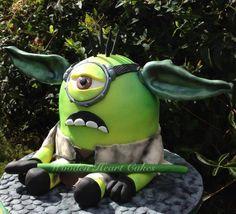 Yoda Minion! - by Wooden Heart Cakes @ CakesDecor.com - cake decorating website