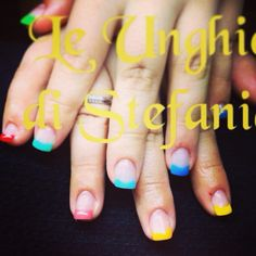 Rainbow nails... Ready for Summer, beach sea and lot of fun..!!!