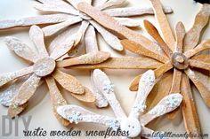 DIY Rustic Wood Snowflakes