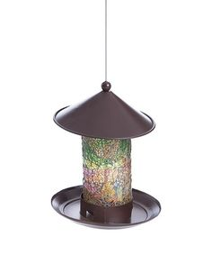 Another great find on #zulily! Green & Yellow Mosaic Bird Feeder #zulilyfinds