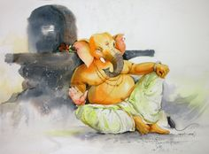Shiva Art, Ganesha Art, Krishna Art, Hindu Art, Shri Ganesh Images, Ganesha Pictures, Lord Ganesha Paintings, Lord Shiva Painting, Poster Color Painting