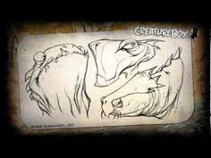 "CreatureBox Art Demo - ""Lizard Heads"" by Greg Baldwin - YouTube"
