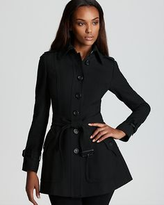Burberry London Coat - Billington Single Breasted Belted Short