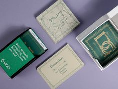 Dorian Gray's Square Business Cards do look fairly tattered next to those Original Business Cards. We wonder how he keeps them looking so nice?