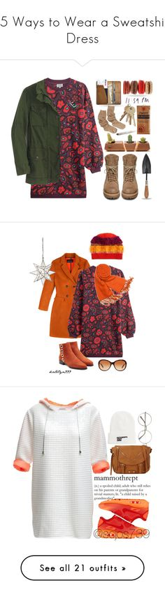 """15 Ways to Wear a Sweatshirt Dress"" by polyvore-editorial ❤ liked on Polyvore featuring sweatshirtdress, waystowear, Kenzo, Dot & Bo, J.Crew, Rick Owens, CO, autumn, outdoors and fallfashion"