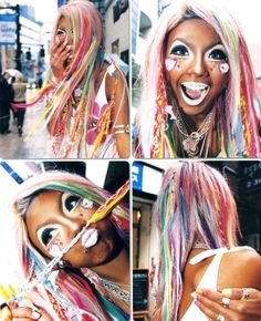 "miyuyoshida: ""Ex. egg model Kanae Watanabe (a. Gyaru Fashion, Harajuku Fashion, Ganguro Girl, Character Makeup, Japanese Fashion, Dark Skin, Beauty Makeup, Dreadlocks, Hairstyle"