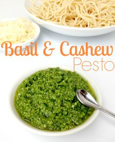 Easy Basil Pesto Recipe (With Cashews) #pesto #basil #cashews - http://www.savingeveryday.net/2014/04/easy-basil-pesto-recipe-cashews/
