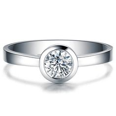 Infinity Forever Clair Zircone Cubique promesse Anneau Nouveau .925 Sterling Silver Band Taille 4-10