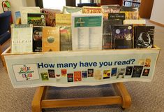 The Great American Read Library Displays, Senior Living, Display Ideas, Activities, American, Reading, Word Reading, Reading Books, Libros