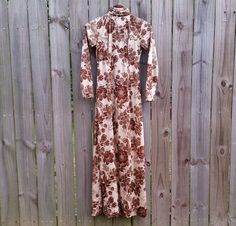 XS S Extra Small Vintage 60s 70s Brown by PinkCheetahVintage