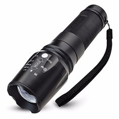 LED Flashlight Tactical Spotlight Camping Hiking Fishing Hunting SOS Strobe