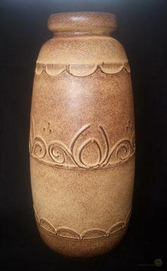 70s Very Large Scheurich Floor Vase #284-47 Brown And Cream 47cm Tall - 70s Very Large Scheurich Floor Vase #284-47 Brown And Cream 47cm Tall Condition: Good. No apparent chips or cracks. - http://shop.primmandpropper.co.uk/product/70s-very-large-scheurich-floor-vase-284-47-brown-and-cream-47cm-tall -  #1970s #FloorVases #Scheurich #Scheurich #Vases #WestGermany -