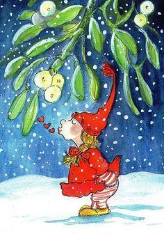 Postcrossing postcard from Finland Noel Christmas, All Things Christmas, Christmas Cards, Vintage Christmas Images, Christmas Pictures, Christmas Illustration, Illustration Art, Humor Grafico, Watercolor Sketch