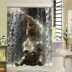 Sale Elephant The Shower Curtain Rideau De Douche Polyester Printing Fabric Bath Custom Curtains Liner Waterproof For Bathroom