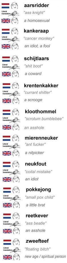 Dutch swear words are bizarre ...