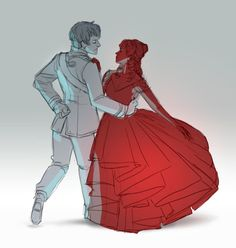 It's sketch time! Don't know if I'll eventually finish this one but the clean concept for this dress and Mare's rebel fighter outfit is coming next week. :) In the mean time, Maven/Cal + Mare dancing, from the first book before they turned out to be. Fanart, Red Queen Book Series, Red Queen Victoria Aveyard, Glass Sword, King Cage, Roi Arthur, Queen Art, Lunar Chronicles, Book Nerd