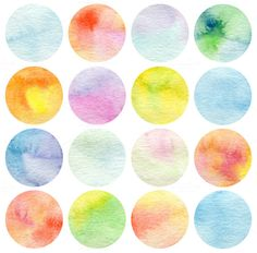 Set Of Circle Watercolor Wall Mural Wall Murals and Set Of Circle Watercolor Wall Mural Removable Wall Decals Watercolor Walls, Watercolor Paintings, Doodle Paint, Bullet Journal Ideas Pages, Pretty Wallpapers, Instagram Highlight Icons, Paper Texture, Cute Stickers, Sticker Design