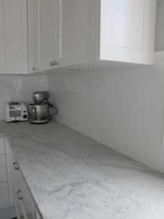 my marble and white kitchen