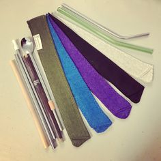Hemp fabrics make up these HempSleeves by StrawSleeves offered in 5 ocean colors - this Standard size fits all these different kinds of reusable straws in to inch lengths. Even the bent straws! Glass, Bamboo, and Stainless Steel! Art Projects, Sewing Projects, Senior Project, Ocean Colors, Hemp Fabric, Stainless Steel Straws, Reduce Reuse, Save The Planet, Go Green