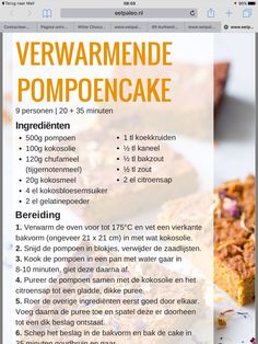 Pompoencake