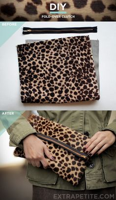 Simplified DIY clutch bag tutorial (foldover style optional) #diypurse