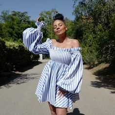 Summer Wear, Summer Time, Sanaa Lathan, Black Celebrities, Pretty Hairstyles, Pretty Face, Hair And Nails, Off Shoulder Blouse, Black And White