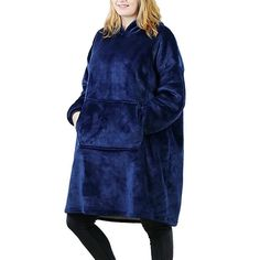 Made of ultra-soft fleece and lined with warming. One size fits all- roomy enough to cover you from head to toe Extra large hood keeps your head comfy and warm Hooded Sweater, Sweater Coats, Wig Hat, Instant Lifts, Climbing Shoes, Holiday Sweater, Medium Hair Cuts, Head To Toe, One Size Fits All