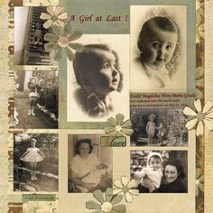 Perfect title for Dolly's page scrapbooking a heritage album