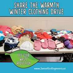 Help your Eco Club/Eco Team students run a Share the Warmth Winter Clothing drive at your school. FREE Letter home to parents Editable PDF and signage to end a coats for kids drive at your school.