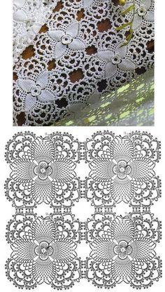 Больше 50 схем вязаных крючком мотивов квадратных и круглых