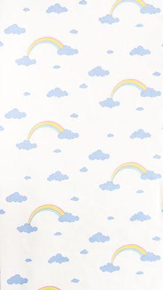 Retro Tapet Skyer Regnbue