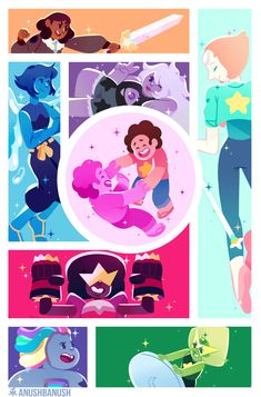 How To Create Steven Universe Characters with Anushbanush Steven Universe Wallpaper, Steven Universe Pictures, Steven Universe Drawing, Steven Universe Characters, Steven Universe Movie, Universe Art, Steven Universe Garnet, Disney Cartoons, Anime Disney