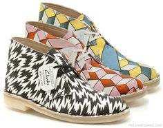 Eley Kishimoto x Clarks Originals Desert Boots   Spring/Summer 2013.