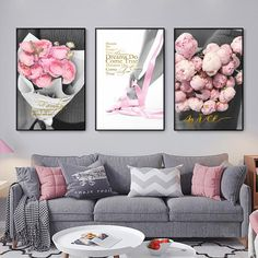"""Nordic Style Pink Peony Flower Poster Girl Ballet Wall Art Canvas Painting Girl Room Decorative Modern Living Room Decoration"" Girls Room Paint, Girl Room, Nordic Art, Nordic Style, Love Wall Art, Wall Art Decor, Living Room Pictures, Peony Flower, Living Room Art"