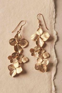 Gold Gilt Dogwood Earrings | BHLDN