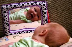cute baby photo ... reflection :-)