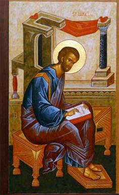 About Saint Lukes life, His teachin & writing. A biography of St. Luke the Evangelist, physician & companion to St. The Life of St. Luke the author, social activist & teacher. Children's Hymns, Luke The Evangelist, Life Of Christ, Byzantine Icons, Religious Icons, Orthodox Icons, New Testament, Christianity, Medieval