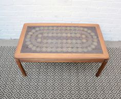 There are few stimulants that are as healthy as a cup of coffee. Still, the choices. Tiled Coffee Table, Retro Coffee Tables, Retro Table, Vintage Coffee, Glazed Tiles, Vintage Industrial Furniture, Living Room Kitchen, Teak Wood, Decor Styles