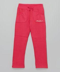 Fuchsia Sweatpants - Girls