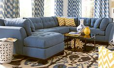 Shop for a Cindy Crawford Home Metropolis Indigo Left 4 Pc Sectional Living Room at Rooms To Go. Find Living Room Sets that will look great in your home and complement the rest of your furniture. Blue Living Room Sets, Sectional Living Room Sets, Living Room Chairs, Living Room Decor, Sectional Couches, Small Sectional, Living Rooms, Sectional Furniture, Family Rooms
