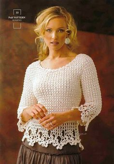 Irish lace, crochet, crochet patterns, clothing and decorations for the house, crocheted. Crochet Jacket, Crochet Cardigan, Knit Or Crochet, Crochet Shawl, Crochet Hooks, Irish Crochet, Crochet Sweaters, Single Crochet, Crochet Motifs