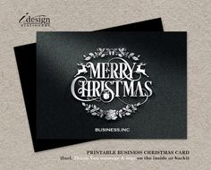 Printable Business Christmas Thank You Cards by iDesignStationery