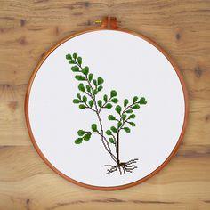 Fern cross stitch pattern modern cross stitch от ThuHaDesign